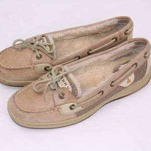 Sperry Top Sider Sheepskin Lined Leather Boat Shoe